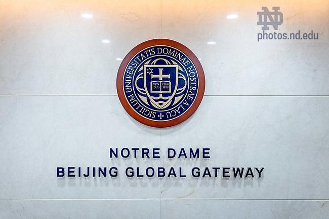 October 12, 2017; Notre Dame Beijing Global Gateway, Beijing, China (Photo by Matt Cashore/University of Notre Dame)