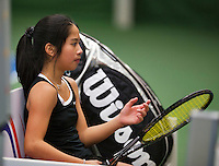 November 30, 2014, Almere, Tennis,  Winter Youth Circuit, WJC, Lian Tran    Margriet Timmermans<br /> Photo: Henk Koster