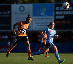 BRISBANE, AUSTRALIA - OCTOBER 30: Allira Toby of the Roar scores a goal during the round 1 Westfield W-League match between the Brisbane Roar and Sydney FC at Spencer Park on November 5, 2016 in Brisbane, Australia. (Photo by Patrick Kearney/Brisbane Roar)