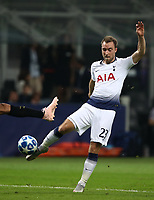 Football Soccer: UEFA Champions League FC Internazionale Milano vs Tottenham Hotspur FC, Giuseppe Meazza stadium, September 15, 2018.<br /> Tottenham's Christian Eriksen scores during the Uefa Champions League football match between Internazionale Milano and Tottenham Hotspur at Giuseppe Meazza (San Siro) stadium, September 18, 2018.<br /> UPDATE IMAGES PRESS/Isabella Bonotto