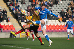 Partick Thistle v St Johnstone.....14.03.15<br /> Michael O'Halloran shoots over the bar<br /> Picture by Graeme Hart.<br /> Copyright Perthshire Picture Agency<br /> Tel: 01738 623350  Mobile: 07990 594431