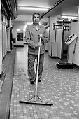 Men's changing room attendant, Oasis Sports Centre, London Borough of Camden.