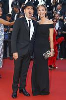 Clovis Cornillac et sa femme Lilou Fogli sur le tapis rouge pour la projection du film 120 BATTEMENTS PAR MINUTE, soixante-dixième (70ème) Festival du Film à Cannes, Palais des Festivals et des Congres, Cannes, Sud de la France, samedi 20 mai 2017.