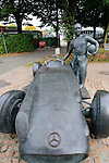 Juan Manuel Fangio statue in the Monza Autodrome during the 72nd Italian Open held in the Royal Park, Monza, Italy. 17-20th September 2015.<br /> Picture Eoin Clarke   Golffile