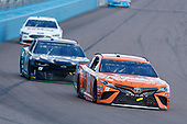Monster Energy NASCAR Cup Series<br /> TicketGuardian 500<br /> ISM Raceway, Phoenix, AZ USA<br /> Sunday 11 March 2018<br /> Daniel Suarez, Joe Gibbs Racing, Toyota Camry ARRIS and Ross Chastain, Premium Motorsports, Chevrolet Camaro LowT Center<br /> World Copyright: Russell LaBounty<br /> NKP / LAT Images