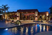 Facade of ultra modern luxury residence