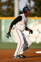 John Mayberry, jr. of the Bakersfield Blaze during a California League baseball game on May 26, 2007 at The Epicenter in Rancho Cucamonga, California. (Larry Goren/Four Seam Images)