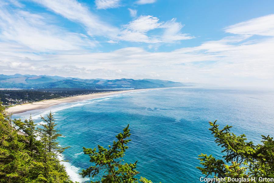 View of Manzanita beach from Rockwork Viewpoint, Tillamook County, Oregon, Unitd States, U.S. Route 101
