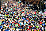 The start of 81st running of the Manchester Road Race, as they runners come down Main Street,  Thursday, November 23, 2017, in  Manchester. (Jim Michaud / Journal Inquirer)