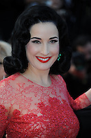 Dita Von Teese .Cannes 21/5/2013 .66mo Festival del Cinema di Cannes 2013 .Foto Panoramic / Insidefoto .ITALY ONLY