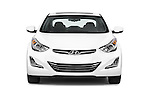Car photography straight front view of a 2015 Hyundai Elantra Sport 4 Door Sedan Front View