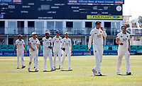 Kent players lead by Zak Crawley leave the field after beating Worcestershire during Kent CCC vs Worcestershire CCC, LV Insurance County Championship Division 3 Cricket at The Spitfire Ground on 7th September 2021