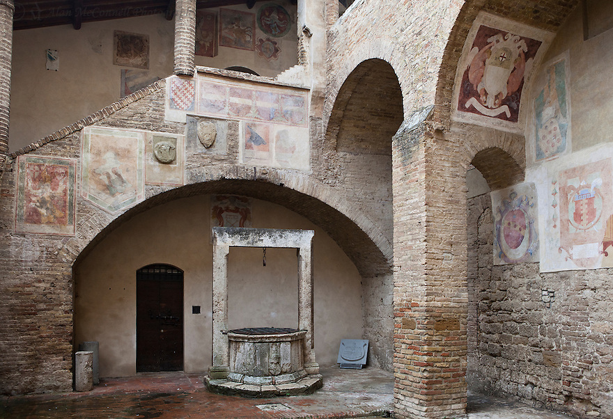 """""""Hidden Cistern in San Gimignano""""<br /> San Gimignano, Italy<br /> 2015<br /> <br /> A secluded cistern stands nobly beneath a stairway adorned with Medieval frescos."""