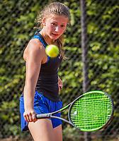 Hilversum, Netherlands, August 7, 2017, National Junior Championships, NJK, Renske Ubachs<br /> Photo: Tennisimages/Henk Koster