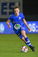 Gent's Chloe Vande Velde pictured during a female soccer game between  AA Gent Ladies and Oud Heverlee Leuven on the 9th matchday of the 2020 - 2021 season of Belgian Scooore Womens Super League , friday 11 th of December 2020  in Oostakker , Belgium . PHOTO SPORTPIX.BE | SPP | DIRK VUYLSTEKE