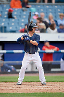 Syracuse Chiefs catcher Tuffy Gosewisch (11) at bat during a game against the Lehigh Valley IronPigs on May 20, 2018 at NBT Bank Stadium in Syracuse, New York.  Lehigh Valley defeated Syracuse 5-2.  (Mike Janes/Four Seam Images)