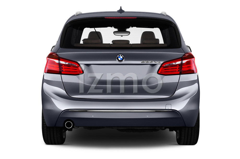 Straight rear view of 2017 BMW 2-Series-Active-Tourer Luxury 5 Door Mini MPV Rear View  stock images