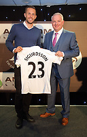 Pictured L-R: Gylfi Sigurdsson with his sponsor Wednesday 18 May 2017<br />
