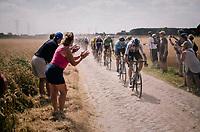 Chris Froome (GBR/SKY) on pavé sector #6<br /> <br /> Stage 9: Arras Citadelle > Roubaix (154km)<br /> <br /> 105th Tour de France 2018<br /> ©kramon