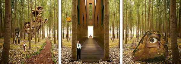 Please use the Main Entrance (Triptych)