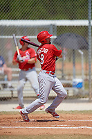 St. Louis Cardinals Stefan Trosclair (18) during a minor league Spring Training game against the New York Mets on March 28, 2017 at the Roger Dean Stadium Complex in Jupiter, Florida.  (Mike Janes/Four Seam Images)