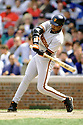 CHICAGO - CIRCA 1996:  Barry Bonds #25 of the San Francisco Giants bats during an MLB game at Wrigley Field in Chicago, Illinois. Bonds played for 22 seasons with 2 different teams, was a 14-time All-Star and was a 7-time National League MVP.(David Durochik / SportPics) --Barry Bonds