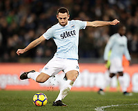 Calcio, Serie A: Lazio - Genoa, Roma, Stadio Olimpico, 5 Febbraio 2018. <br /> Lazio's Stefan De Vrij in action during the Italian Serie A football match between Lazio and Genoa at Rome's Stadio Olimpico, February 5, 2018.<br /> UPDATE IMAGES PRESS/Isabella Bonotto