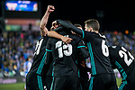Marco Asensio Willemsen of Real Madrid celebrates his goal with teammates during the Copa del Rey 2017-18 match between CD Leganes and Real Madrid at Estadio Municipal Butarque on 18 January 2018 in Leganes, Spain. Photo by Diego Gonzalez / Power Sport Images