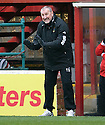 CALEY MANAGER TERRY BUTCHER..14/01/2012 sct_jsp019_motherwell_v_ict     .Copyright  Pic : James Stewart.James Stewart Photography 19 Carronlea Drive, Falkirk. FK2 8DN      Vat Reg No. 607 6932 25.Telephone      : +44 (0)1324 570291 .Mobile              : +44 (0)7721 416997.E-mail  :  jim@jspa.co.uk.If you require further information then contact Jim Stewart on any of the numbers above.........