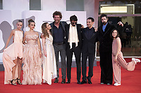 Fabio D'Innocenzo, Carlotta Gamba, Damiano D'Innocenzo, Elio Germano attending the America Latina Premiere as part of the 78th Venice International Film Festival in Venice, Italy on September 09, 2021. <br /> CAP/MPI/IS/PAC<br /> ©PAP/IS/MPI/Capital Pictures