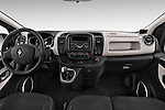 Stock photo of straight dashboard view of a 2015 Renault Trafic Fourgon Extra L1H1 dCi 120 TT S&S 2.7T 4 Door Cargo Van 2WD Dashboard