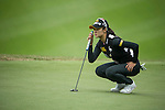 Ji Hyun Oh of South Korea putts on the 12th green during Round 2 of the World Ladies Championship 2016 on 11 March 2016 at Mission Hills Olazabal Golf Course in Dongguan, China. Photo by Victor Fraile / Power Sport Images