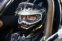 Apr 26, 2015; Baytown, TX, USA; NHRA top fuel driver Tony Schumacher during the Spring Nationals at Royal Purple Raceway. Mandatory Credit: Mark J. Rebilas-