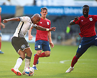 17th October 2020; Liberty Stadium, Swansea, Glamorgan, Wales; English Football League Championship Football, Swansea City versus Huddersfield Town; Andre Ayew of Swansea City crosses the ball with some skill during the first half