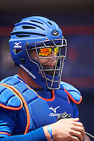 St. Lucie Mets catcher Lednier Ricardo (15) before a game against the Brevard County Manatees on April 17, 2016 at Tradition Field in Port St. Lucie, Florida.  Brevard County defeated St. Lucie 13-0.  (Mike Janes/Four Seam Images)