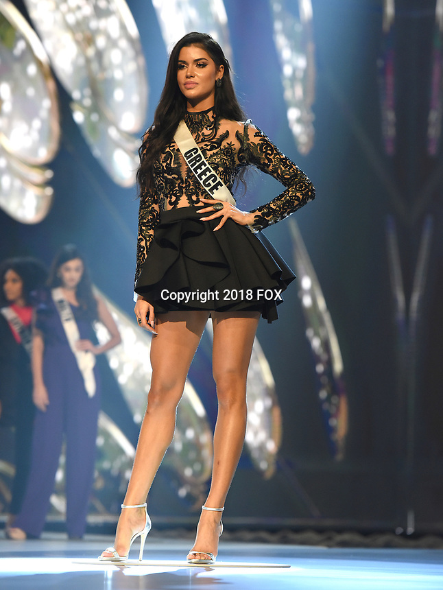 BANGKOK, THAILAND - DECEMBER 14: 2018 MISS UNIVERSE: Miss Greece, Ionna Bella during rehearsals for the 2018 MISS UNIVERSE competition at the Impact Arena in Bangkok, Thailand on December 14, 2018. Miss Universe will air live on Sunday, Dec. 16 (7:00-10:00 PM ET live/PT tape-delayed) on FOX.  (Photo by Frank Micelotta/FOX/PictureGroup)