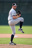 June 21st 2008:  Pitcher Russell Young of the Mahoning Valley Scrappers, Class-A affiliate of the Cleveland Indians, during a game at Dwyer Stadium in Batavia, NY.  Photo by:  Mike Janes/Four Seam Images