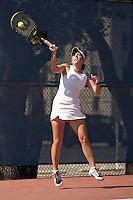 SAN ANTONIO, TX - APRIL 6, 2008: The Texas State University Bobcats vs. The University of Texas at San Antonio Roadrunners Women's Tennis at the UTSA Tennis Center. (Photo by Jeff Huehn)