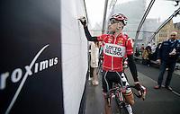 Jurgen Roelandts (BEL/Lotto-Belisol) signing in<br /> <br /> Ronde van Vlaanderen 2014