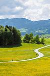 Deutschland, Bayern, Oberbayern, Landkreis Miesbach, bei Fischbachau: Landstrasse durch das Leitzachtal | Germany, Upper Bavaria, district Miesbach, near Fischbachau: rural road at Leitzach Valley