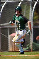 Dartmouth Big Green right fielder Kyle Holbrook (9) rounds third while running the bases during a game against the Eastern Michigan Eagles on February 25, 2017 at North Charlotte Regional Park in Port Charlotte, Florida.  Dartmouth defeated Eastern Michigan 8-4.  (Mike Janes/Four Seam Images)
