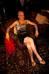 'GAYFEST MANCHESTER, UK', A GAY MAN WEARING A SPARKLING DRESS AT THE LAVENDER BALL HELD AT THE PALACE HOTEL, MANCHESTER, 1999