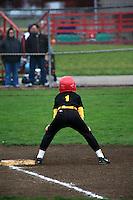 Ashton on first base baseball