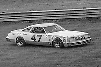 Satch Worley, #47 Oldsmobile, spins in the grass on the way to 18th place finish 1978 Firecracker 400 NASCAR race, Daytona International Speedway, Daytona Beach, FL, July 4, 1978.  (Photo by Brian Cleary/ www.bcpix.com )
