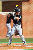 Zach Remillard (7) of the Coastal Carolina Chanticleers at bat against the High Point Panthers at Willard Stadium on March 15, 2014 in High Point, North Carolina.  The Chanticleers defeated the Panthers 1-0 in the first game of a double-header.  (Brian Westerholt/Four Seam Images)