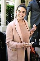 ALMA ( Alexandra MAQUET ), candidate Eurovision 2017 arrive au studio Gabriel pour enregistrement de Vivement Dimanche TF1 - Paris, France, 12/4/2017