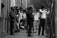 16 ABBRIL1986<br /> MILITARES CARABINEROS Y CIVILES RODEARON LA ESCUELA DE MEDICINA NORTE DE LA UNIVERSIDAD DE CHILE  PARA CONTROLAR LAS PROTESTAS QUE ADHIRIERON AL PARO DEL 15 Y 16 DE ABRIL CONVOCADO EN CONTRA DE LA INTERVENCION DE LAS UNIVERSIDADES Y DE PERSECUCION A ESTUDIANTES Y DIRIGENTES UNIVERSITARIOS.Forty years ago, on September 11, 1973, a military coup led by General Augusto Pinochet toppled the democratic socialist government of Chile. President Salvador Allende was killed during the  attack to seize  La Moneda presidential palace.  In the aftermath of the coup, a quarter of a million people were detained for their political beliefs, 3000 were killed or disappeared and many thousands were tortured.<br /> Some years later in 1981, while Pinochet ruled Chile with iron fist, a young photographer called Juan Carlos Caceres started to freelance in the streets of Santiago and the poblaciones or poor outskirts, showing the growing resistance against the dictatorship. For the next 10 years Caceres photographed every single protest and social movement fighting for the restoration of democracy. He knew that his camera was his only weapon, he knew that his fate was to register the daily violence and leave his images for the History.<br /> In this days Caceres is working to rescue and organize his collection of images in the project Imagenes de la Resistencia   . With support of some Chilean official institutions, thousands of negatives are digitalized and organized to set up the more complete visual heritage of this  violent period of Chile´s history.<br /> In a time when technology was not very friendly and communications were kind of basic, Juan Carlos Caceres and other photojournalist were always at the right place in the right moment defying the threats of the police. Their work is now  a visual heritage that documents and remind us the fight of Chilean people for democracy.