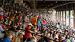 OCEANPORT, NJ - JUL 30: The crowd in the clubhouse on Fourstardave Stakes Day at Saratoga Race Course on August 12, 2017 in Saratoga Springs, New York (Photo by Scott Serio/Eclipse Sportswire/Getty Images)