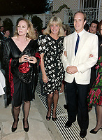 ARCHIVE: MONACO:  JUNE 1988: HSH Prince Albert of Monaco with Ursula Andress & Linda Evans at celebrity tennis tournament in Monaco.<br /> File photo © Paul Smith/Featureflash