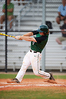 Dartmouth Big Green catcher Kyle Holbrook (9) at bat during a game against the Southern Maine Huskies on March 23, 2017 at Lake Myrtle Park in Auburndale, Florida.  Dartmouth defeated Southern Maine 9-1.  (Mike Janes/Four Seam Images)